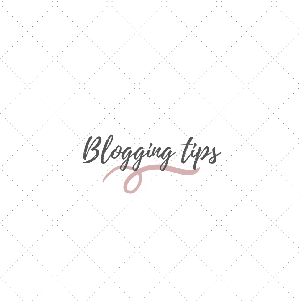 """design that says """"blogging tips"""" click to read"""